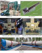 1ton complete biomass briquetting and pelletizing plant