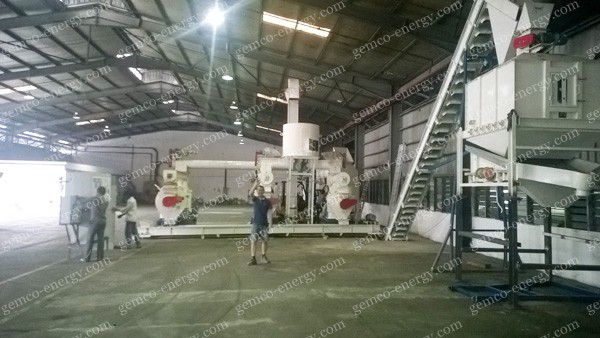 2000ton/month wood pellet plant