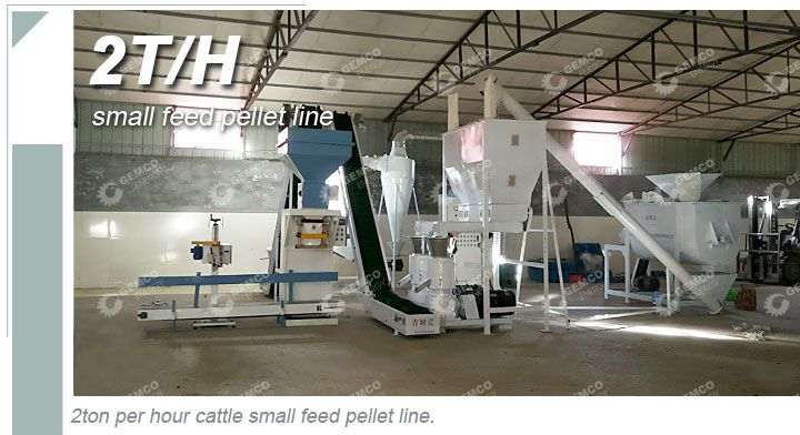 2ton per hour small feed pellet plant