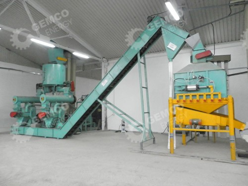 3-4ton/h wood pellet production line