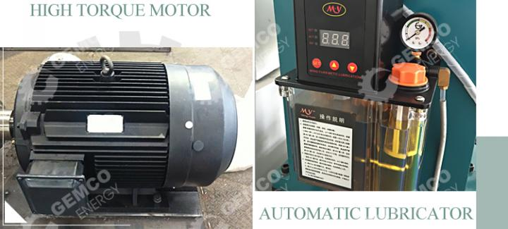 BPM510 sawdust pellet machine motor and lubricator