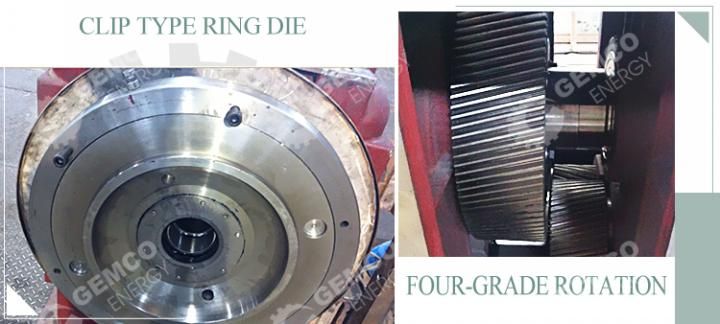 BPM510 sawdust pellet machine ring die and four-grade rotation