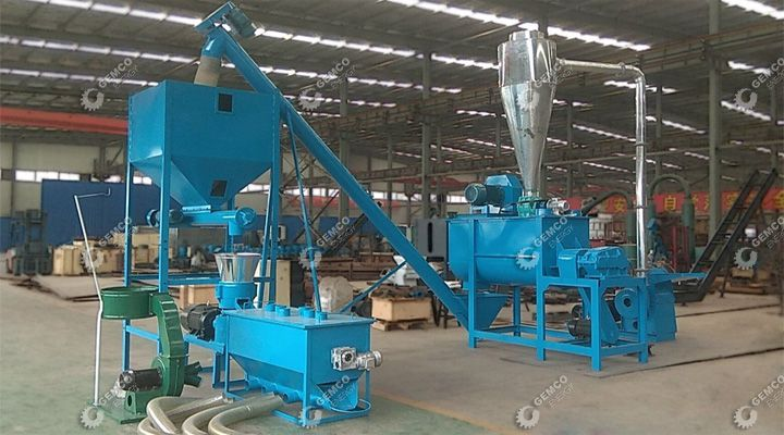 STLP400 Small mobile Feed Pellet Plant