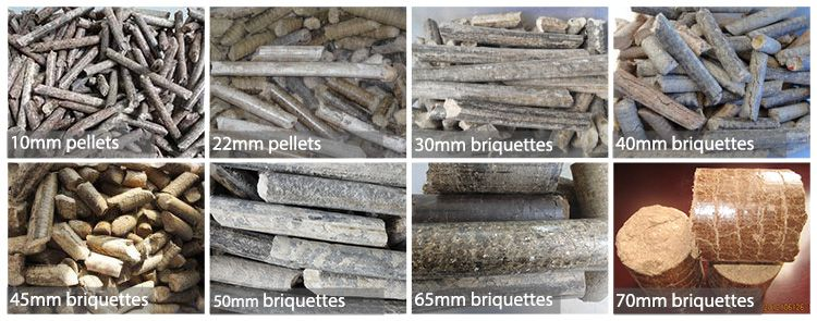 Briquettes Made from Rice Husk