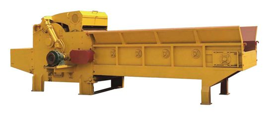 chain plate feeding type crushing machine