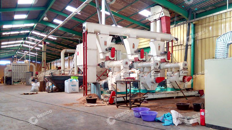 4.5TPH Wood Pellet Production Plant Setup in Morocco