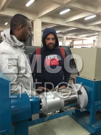 customer seeing screw charcoal briquetting machine