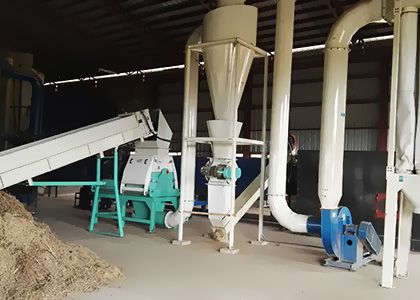1.5T/H Elephant Grass Pellet Processing Plant in Philippine