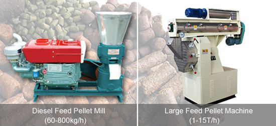 small scale and large scale feed pellet making machines