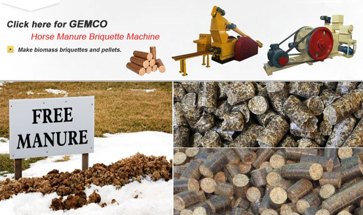 Handle Horse Manure by Horse Manure Briquette Machine