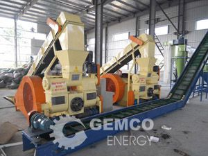 Mechanical stamping wood briquette machine, Screw wood briquette machine