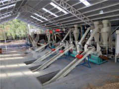 4.5-6tph pellet mill plant installed in Chile
