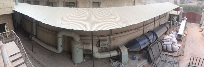 drying system rotary drum dryer