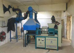 1TPH screw wood briquetting line in Pakistan