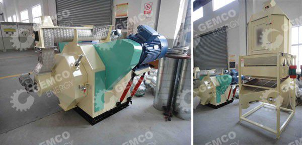 wood pelleting machine and cooler