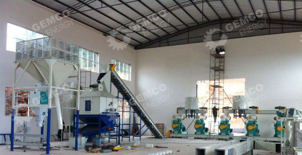 8ton/h wood pellets plant